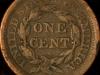 1853 Cornet Large Cent, reverse