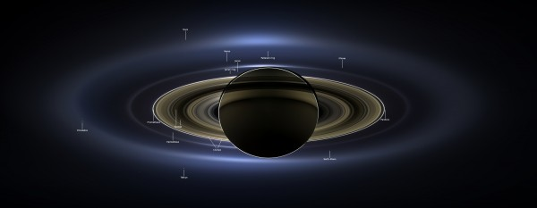 Saturn from behind