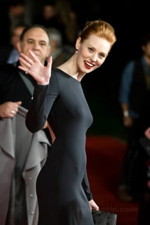 Deborah Ann Woll in black