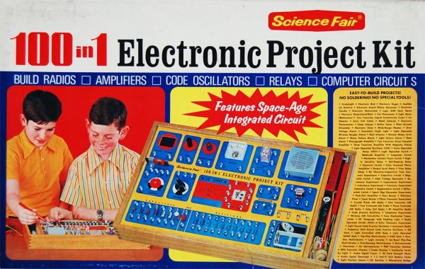 Science Fair 100-in-1 Electronic Project Kit (1973)-Box